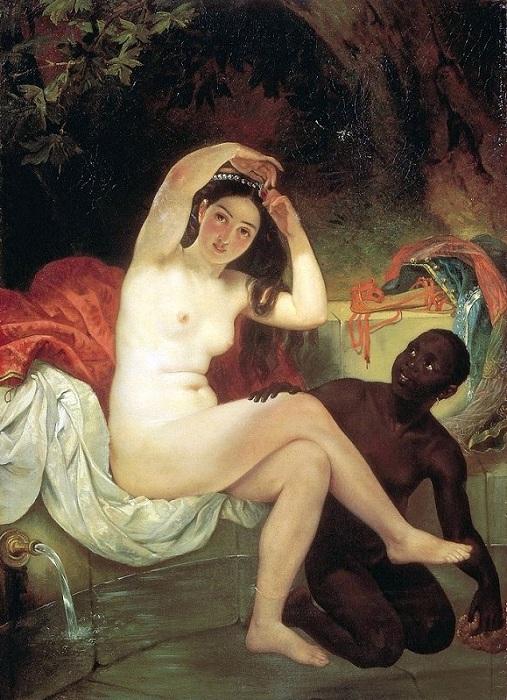 Вирсавия. (1832). Третьяковская галерея. Автор: Карл Брюллов.